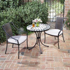 home styles marble 3 piece black gray tile tile bistro patio dining rh pinterest com