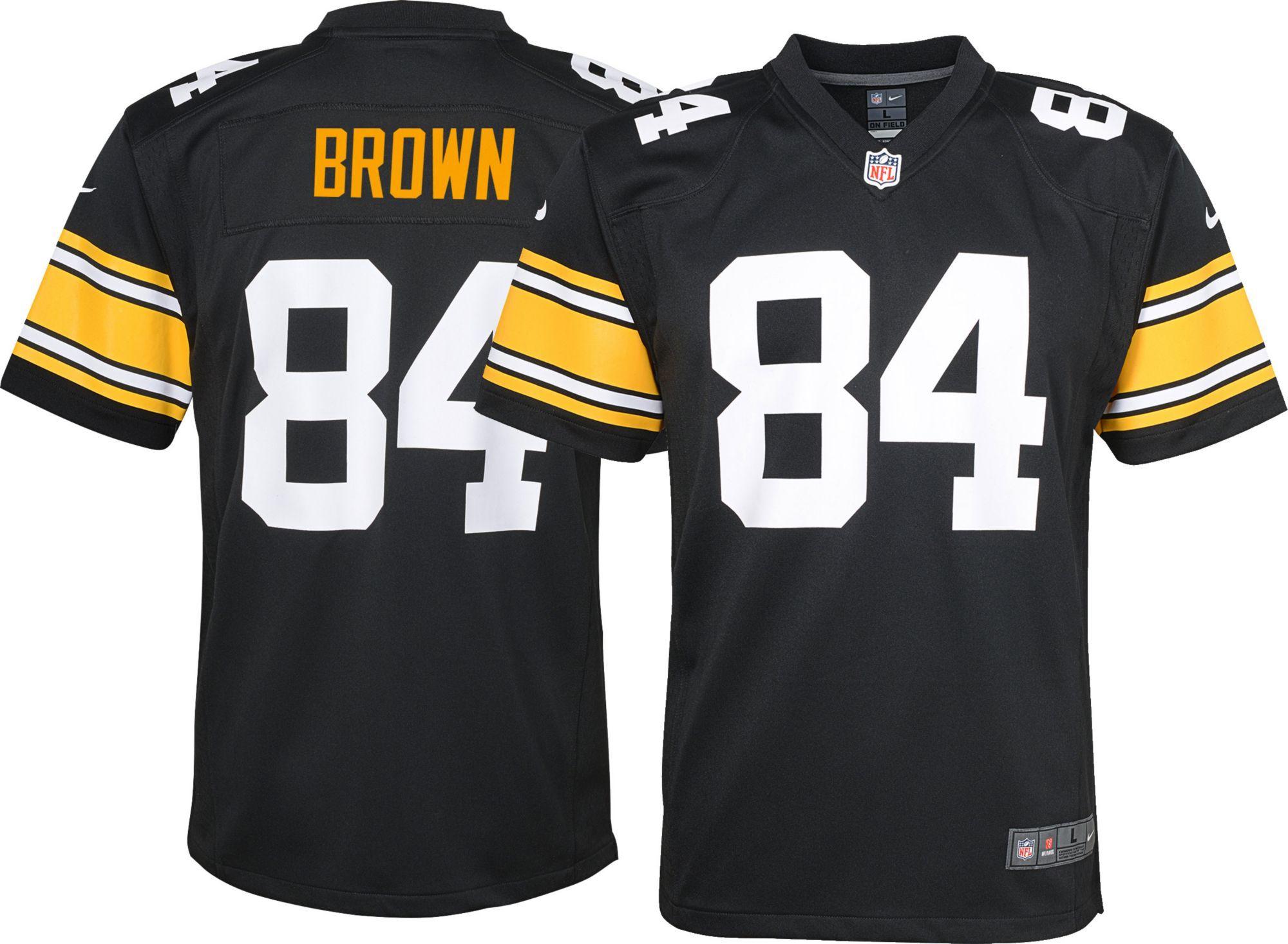 Nike Youth Alternate Game Jersey Pittsburgh Antonio Brown 84 Black Jersey Antonio Brown Steelers Antonio Brown