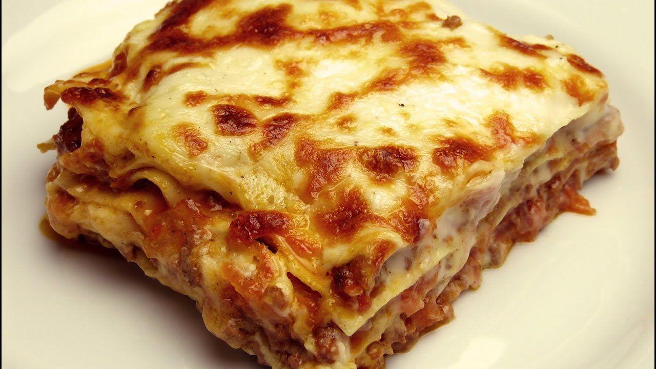 Easy Lasagna Recipe With Bechamel Sauce Youtube Lasagna Recipe Lasagna Easy Lasagna