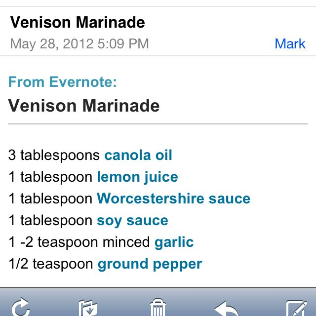 Venison Marinade | Food obsessionss | Pinterest