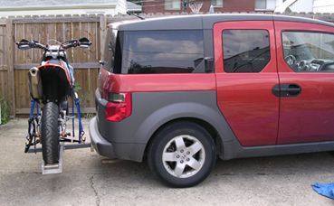 class iii hitch with a motorcycle carrier - page 3 - honda element