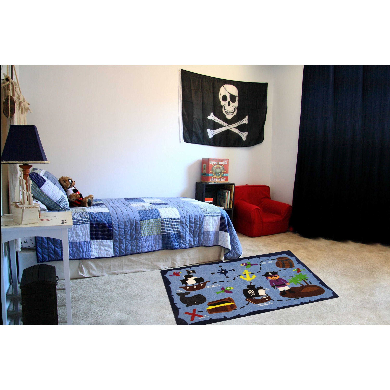 rug for living room size%0A Ahoy Matey Blue Accent Rug    u      x   u           inch x    inch   Size   u     x   u       Nylon  Graphic