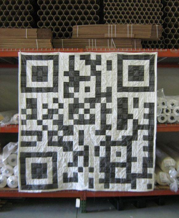 Love this QR Code quilt!