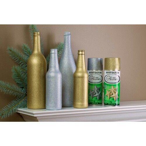 Rust Oleum Silver And Gold Glitter Spray Paint Glitter