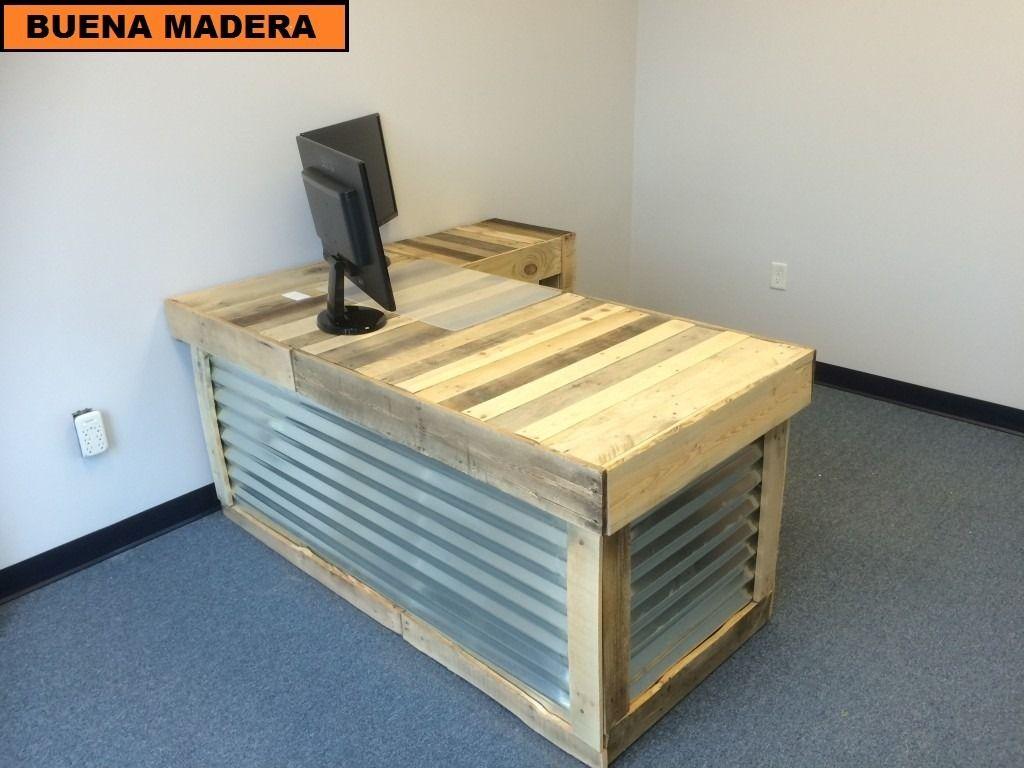 Escritorios rusticos cool escritorio bureau de madera de - Escritorios rusticos de madera ...