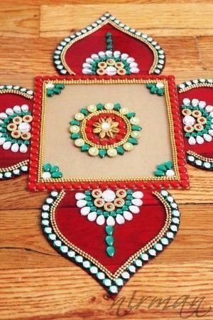 Rangoli Dekoration - DIY Diwali Dekoration Ideen für Zuhause # Diwalidecorations # Dekoration...