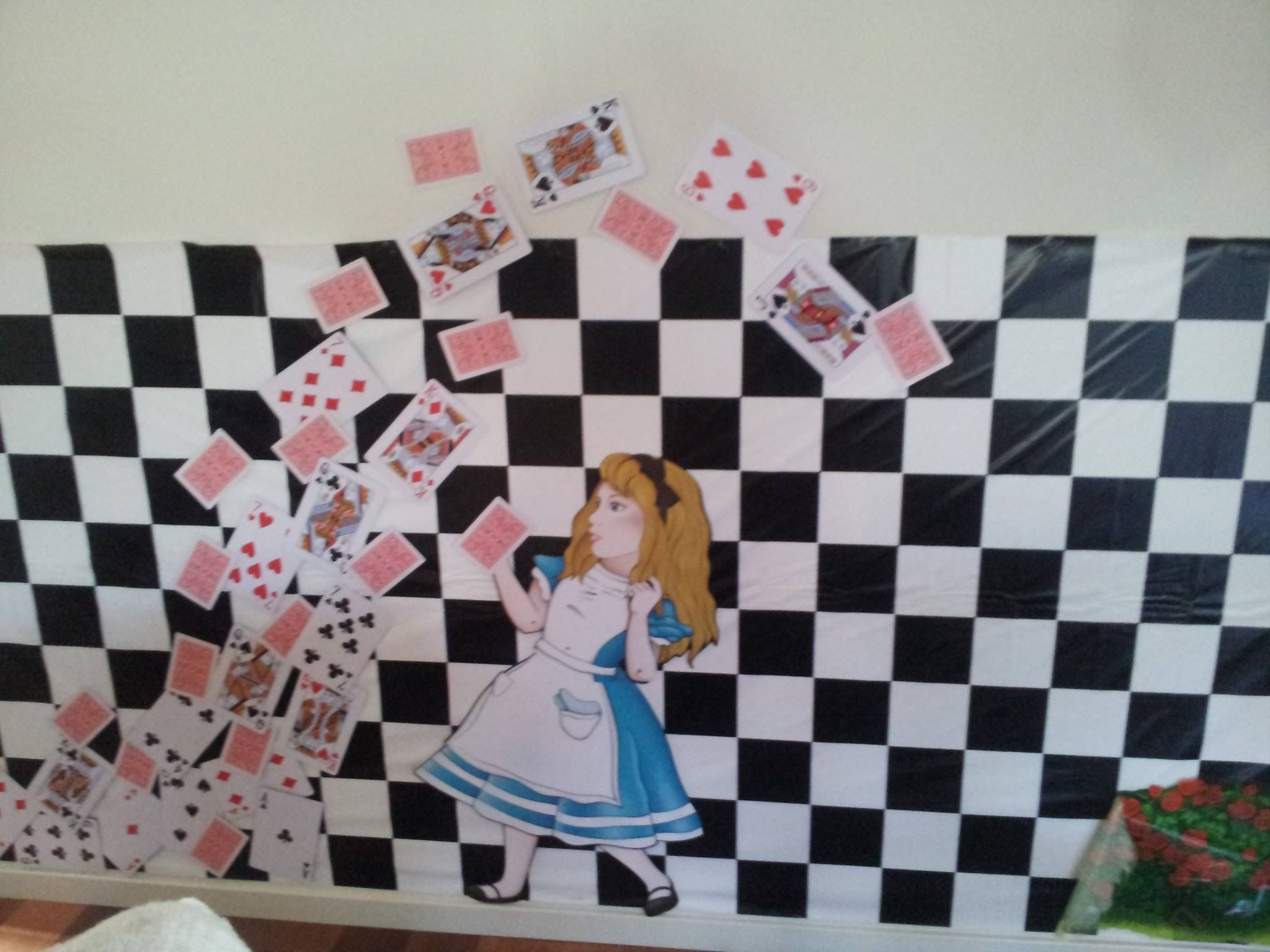 mad hatter teparty invitations pinterest%0A Alice in Wonderland  Mad Hatter tea party wall decoration