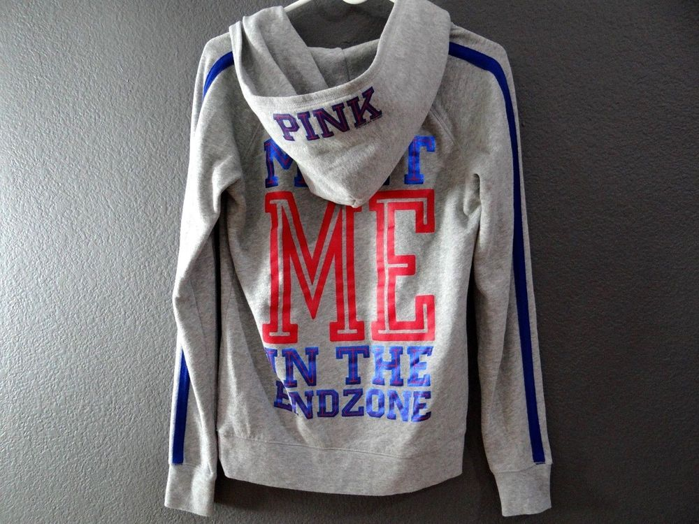 release date 1f140 f7c6f VICTORIA SECRET PINK NFL NY GIANTS HOODIE SIZE X-SMALL ...