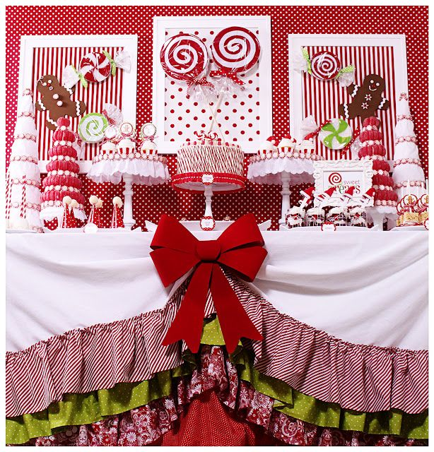 Themed Christmas Party Ideas Part - 34: Candy Christmas Party {Christmas Party Theme} This Candy Christmas Party  Table Features Lots Of DIY Projects And Ideas Including Styrofoam  U201ccandies,u201d Santa ...