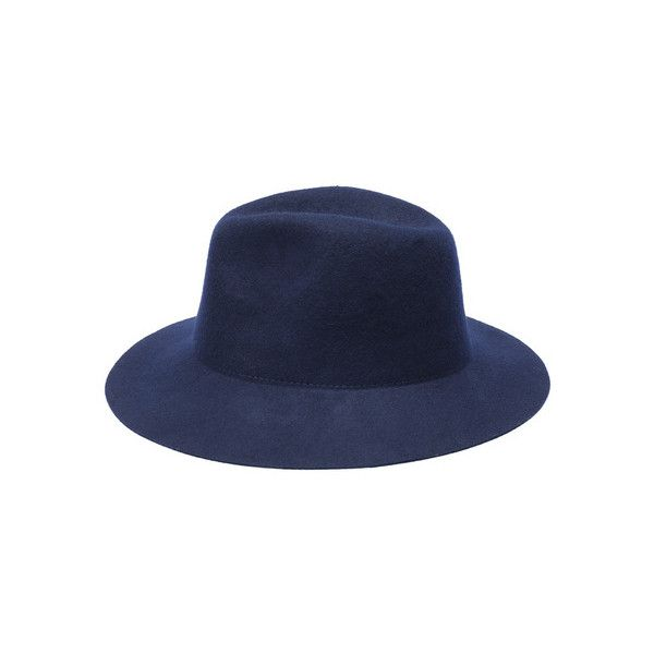 34a19535a Wool Boater Royal Blue Hat (226.710 IDR) ❤ liked on Polyvore ...
