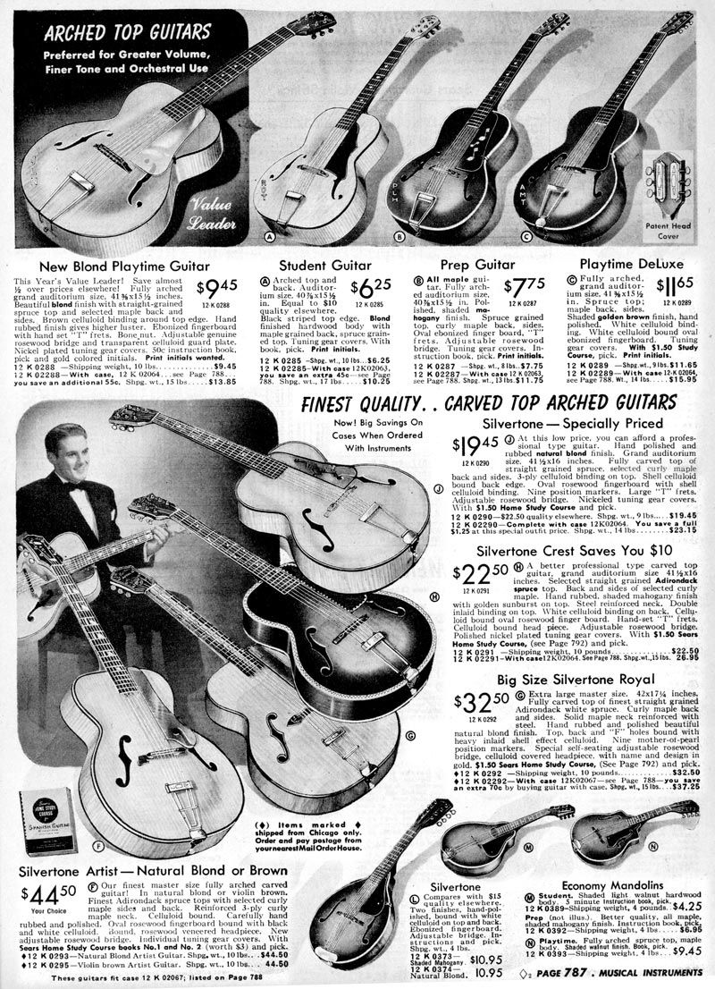 pin by silvertone guitars on vintage silvertone scrapbook in 2019 archtop acoustic guitar. Black Bedroom Furniture Sets. Home Design Ideas