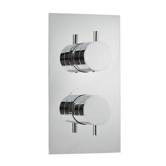 Round Dual Control Shower Valve With 3 Way Diverter Bath