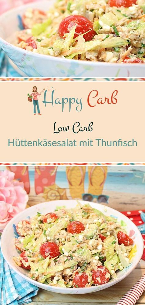 Photo of Cottage cheese salad with tuna – happy carb recipes