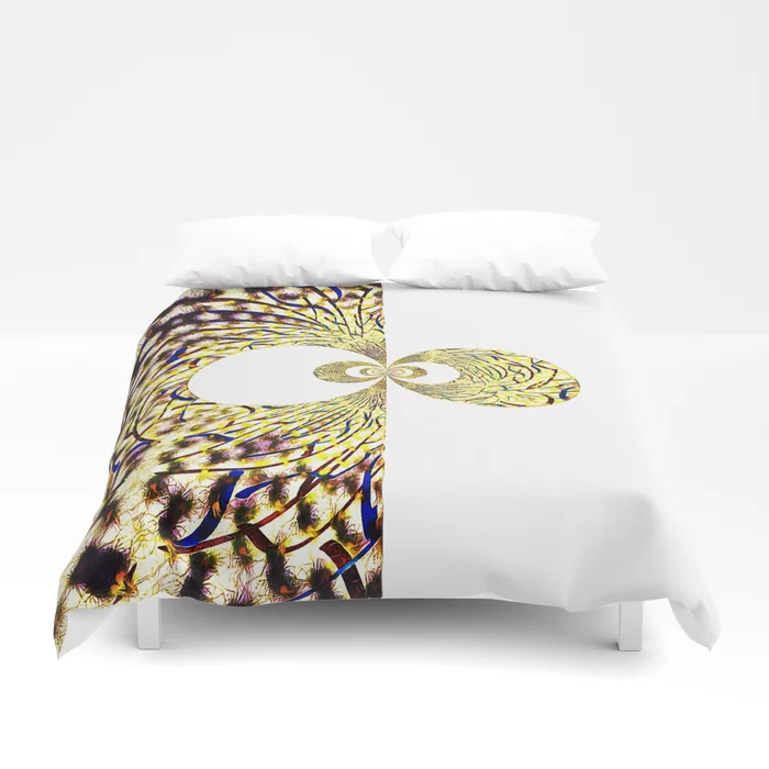Buy Fraktal Pinch Gold Duvet Cover By Rbroart Worldwide Shipping
