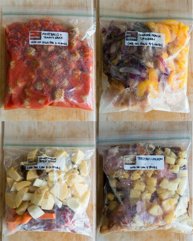 12 Make Ahead Slow Cooker Freezer Meals