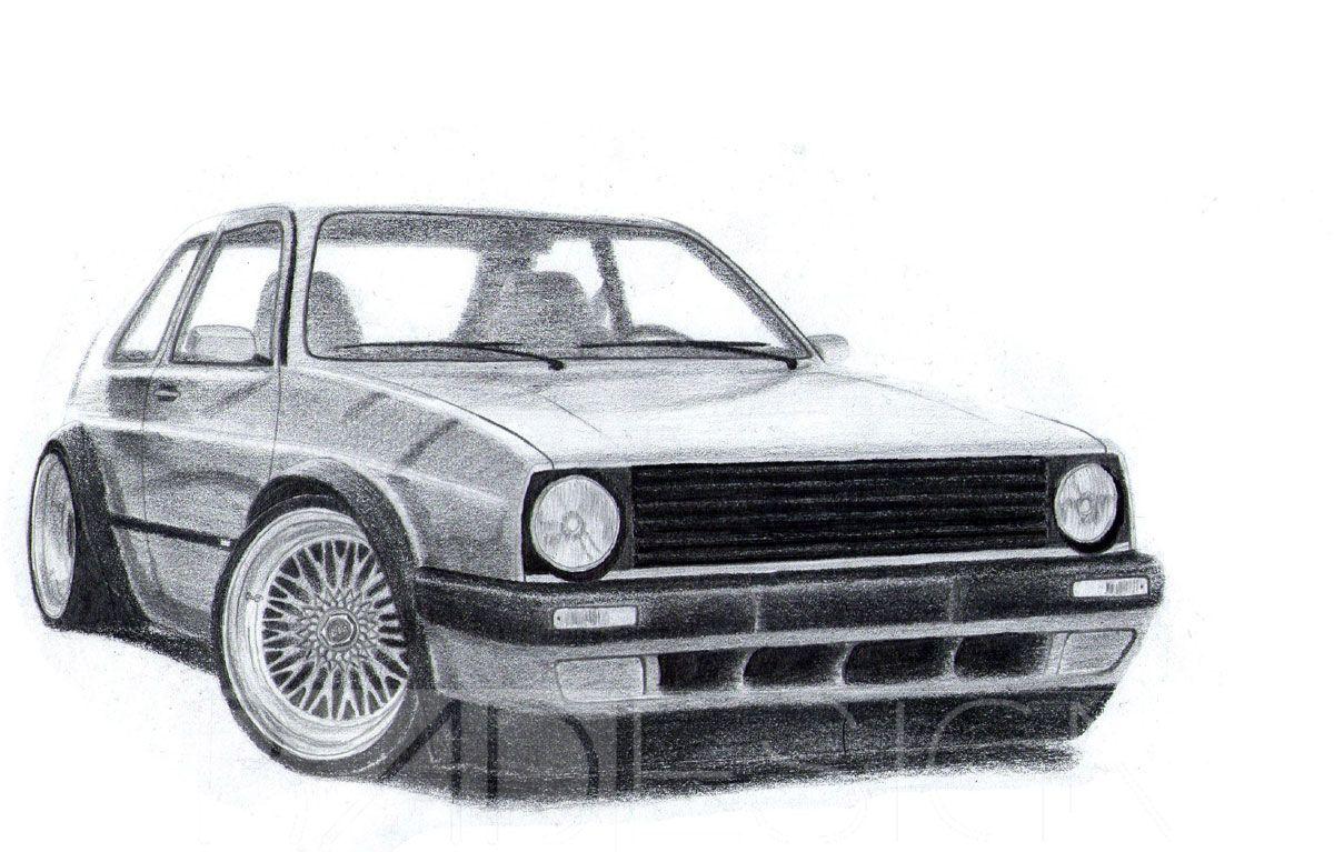 vw golf mk2 badesign drawings pinterest golf mk2