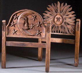 Folk Art Carved Headboards Carved Headboard Mexican Folk Art