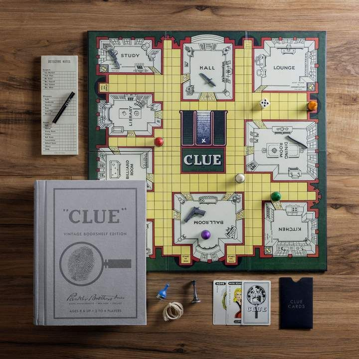 Clue Linen Book Vintage Edition Board Game Sponsored
