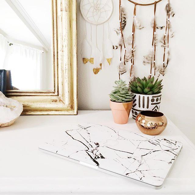 home decor, dresser decor, dresser accessories, succulents, marble