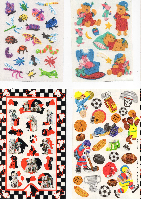 Sandylion CHRISTMAS ICONS Sparkle Stickers RETIRED VTG OLD SANDYLION LOGO/'