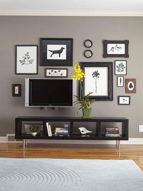 7 Ways To Hide The TV | Art walls, Walls and Corner tv unit