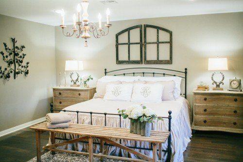 camera da letto country di Chip e Joanna Gaines | Stanze da letto ...