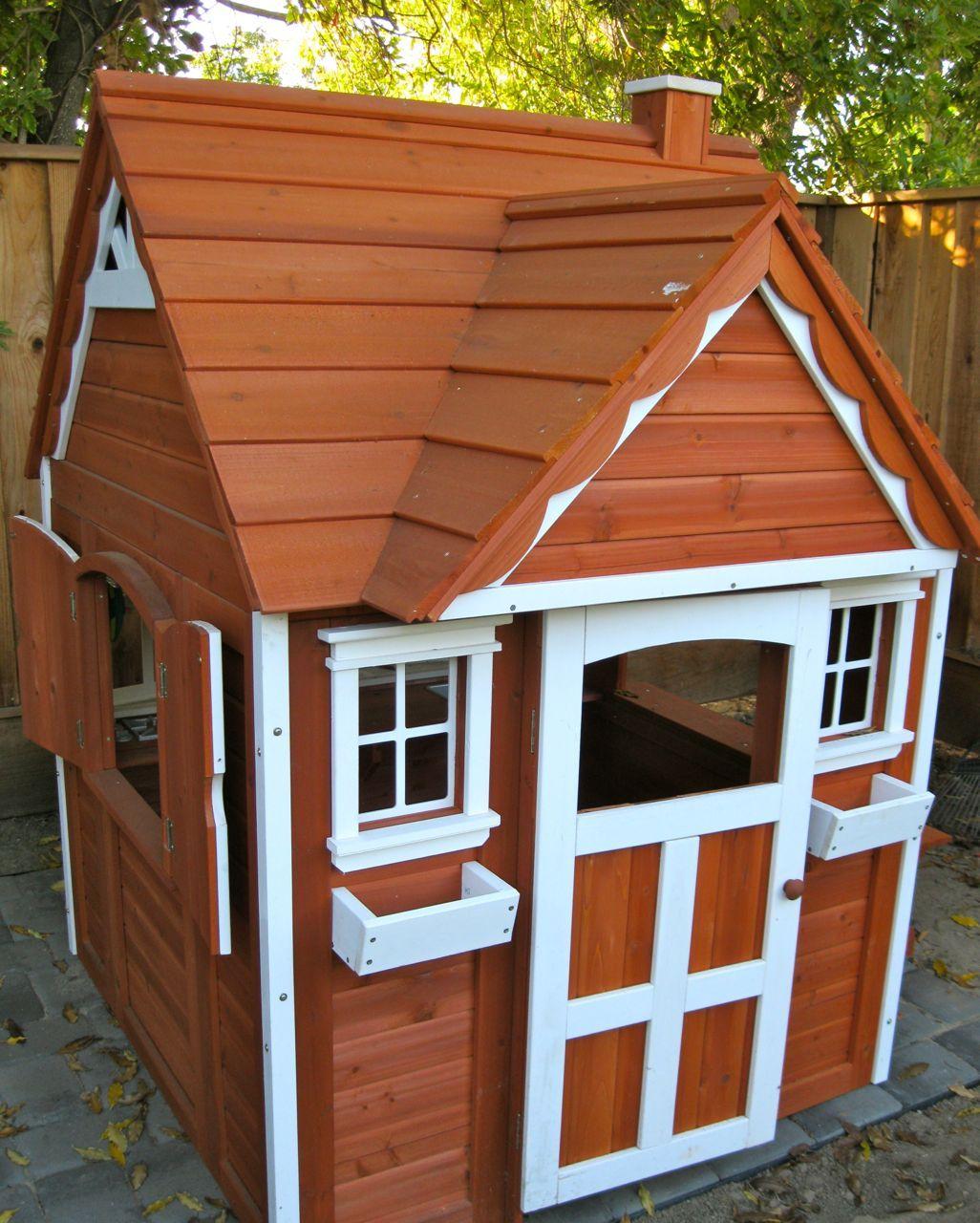 cedar playhouse from costco nursery ideas pinterest cedar