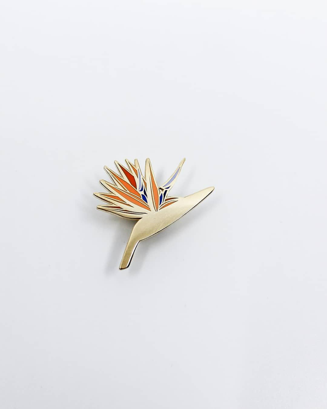 New Pin Bird Of Paradise Strelitzia Inspired By My First Trip To Maui This Gorgeous Pin Features Birds Of Paradise Flower Birds Of Paradise Cloisonne Pin