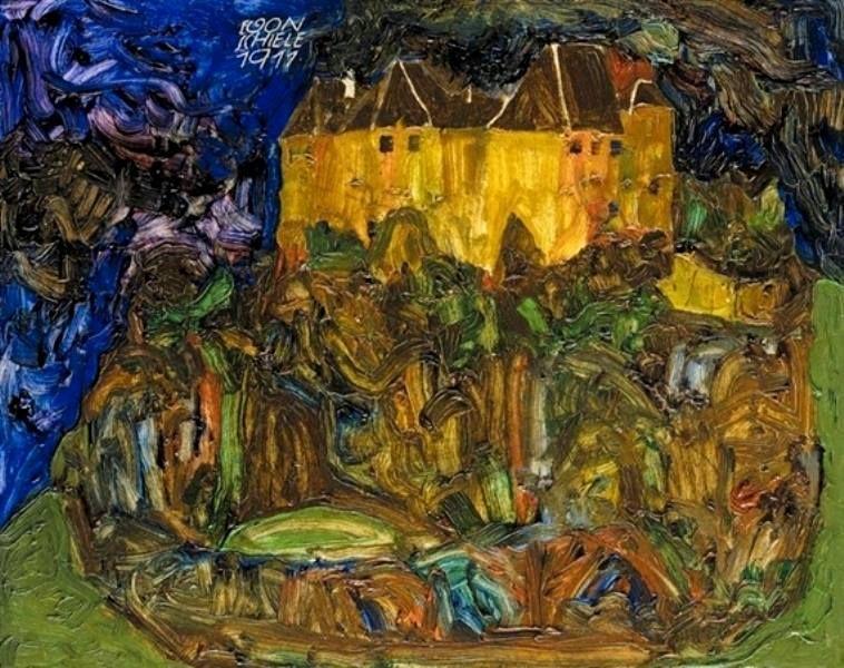 Egon Schiele - View of Neulengbach Castle