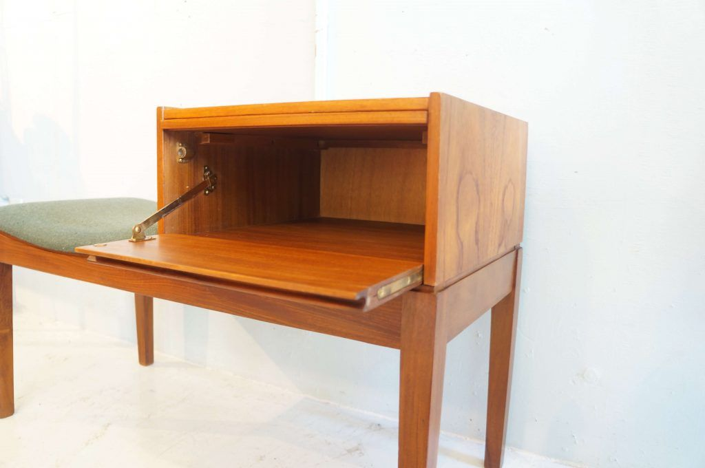 uk vintage ercol teak wood telephone table made by chippy イギリス
