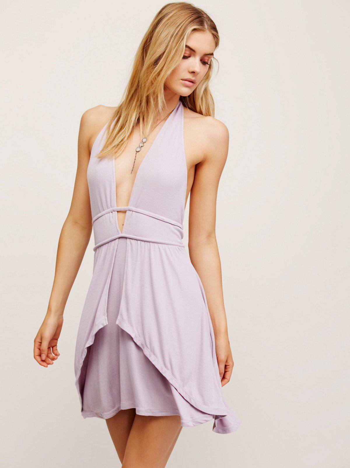 Neptune flare mini dress in our easy beach jersey ribbed fabric