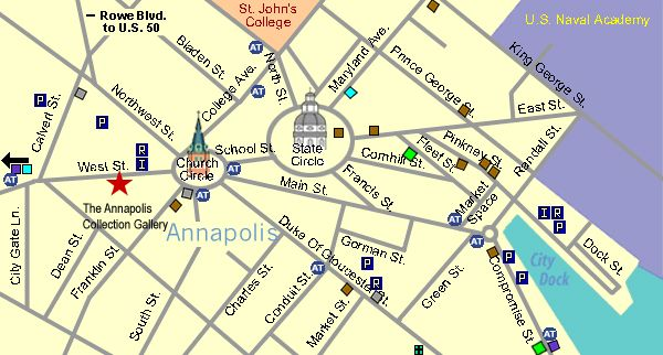 map of annapolis md Downtown | Contact Us - Annapolis Collection ...
