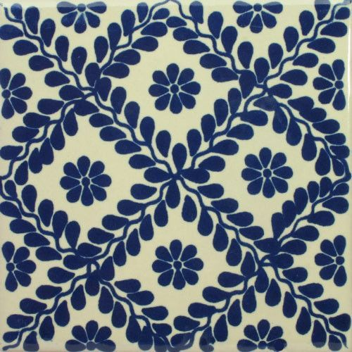Spanish Decorative Tile Para Vina Azul Tile Coaster & Trivet Sets  Tile Coasters