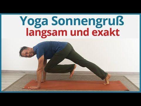 Yoga Sonnengruß für Anfänger | langsam und exakt - YouTube #pilatesroutines