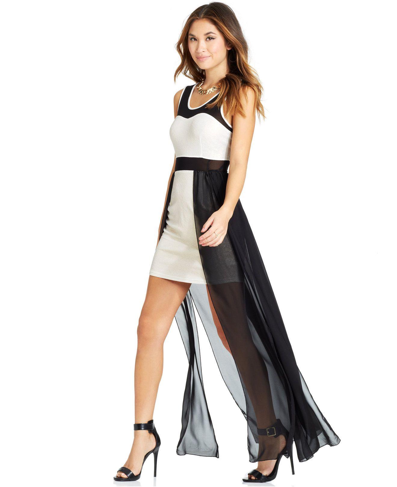 Material Girl Juniors' Illusion Dress - Juniors Dresses - Macy's ...
