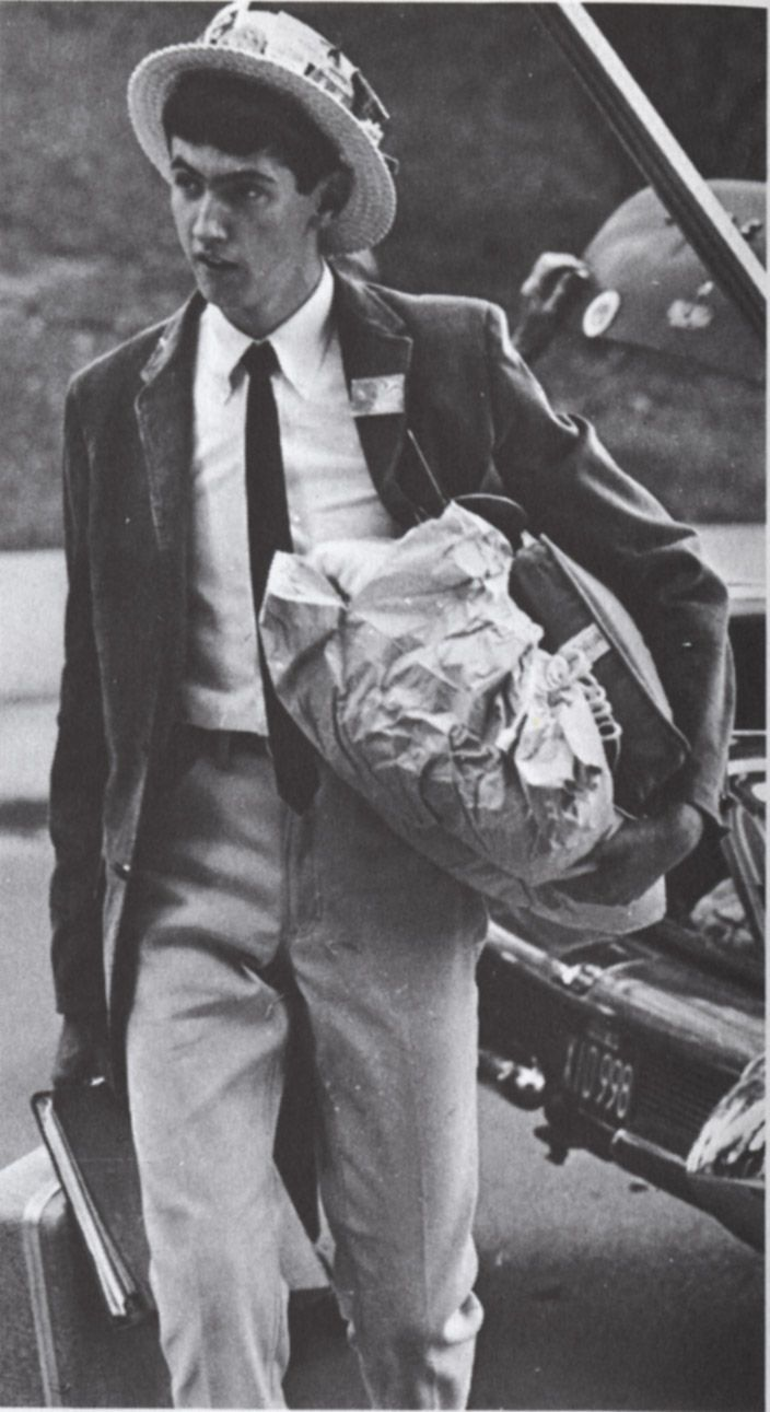 Traditional Preppy Syracuse University Student on 1956 Move-In Day #PreppySyracuse