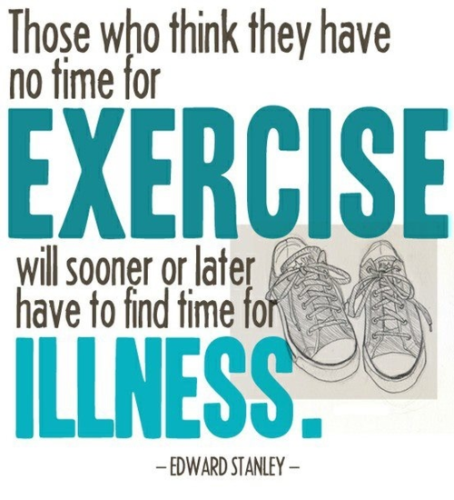 you don't have time to not exercise!