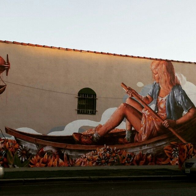 Mural outside Pulp Fiction in Culver City.