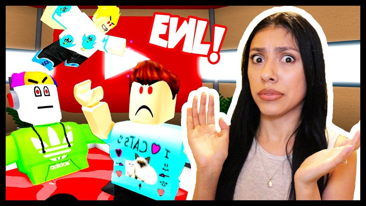 ESCAPE THE EVIL YOUTUBERS in Roblox Lets Save YouTube