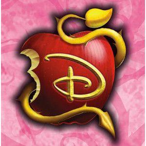 Disney Descendants Apple Logo On Pink Descendientes Bricolaje Y Manualidades Galletas De Cumpleanos