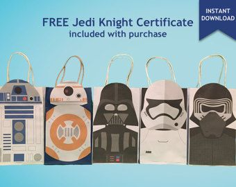 star wars r2d2 bb8 party favor bag printable star wars birthday rh pinterest com