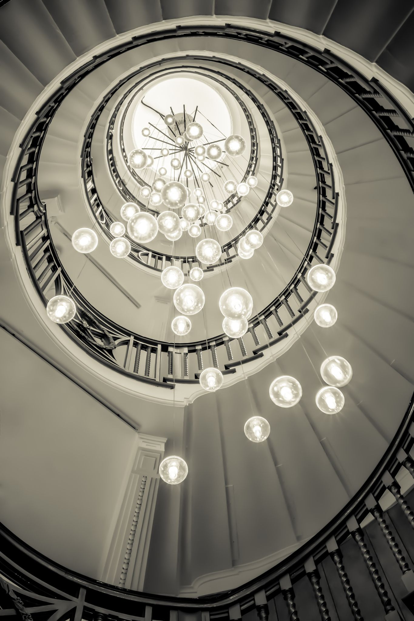 Beautiful Spiral Staircase In The Department Store In London