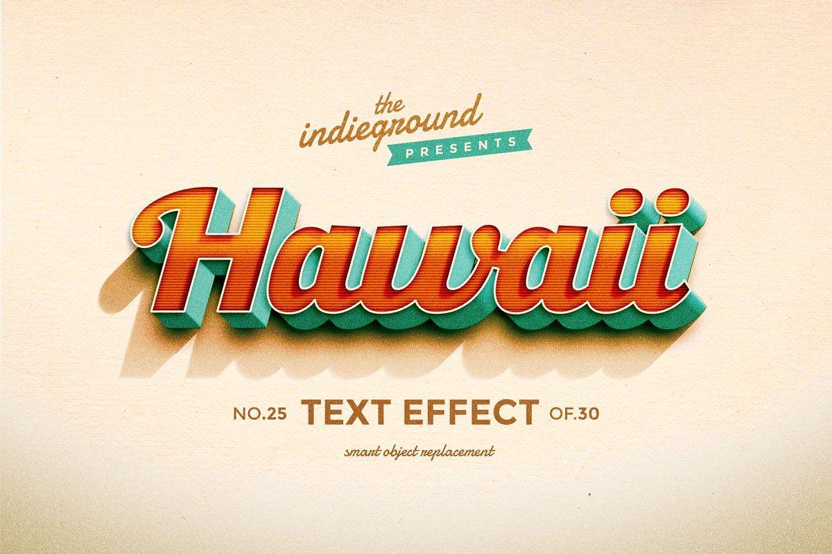 Retro Text Effects Complete Bundle Retro Text Vintage Text Text Effects