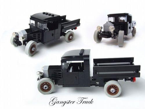 Lego Antique Car Moc Vintage Truck Gangster Version A Lego