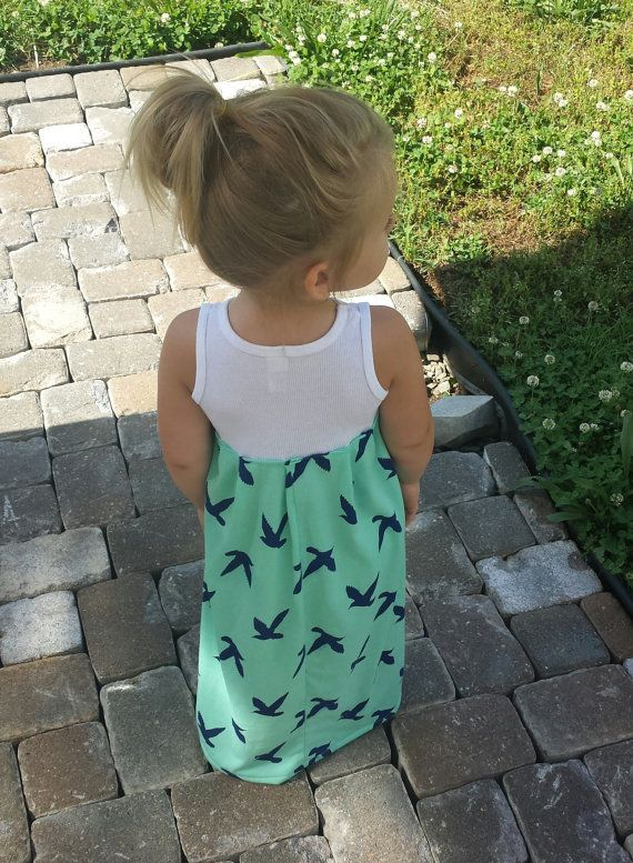 Maxi dress birds of Paradise infant toddler sea by TheKnotProject ...