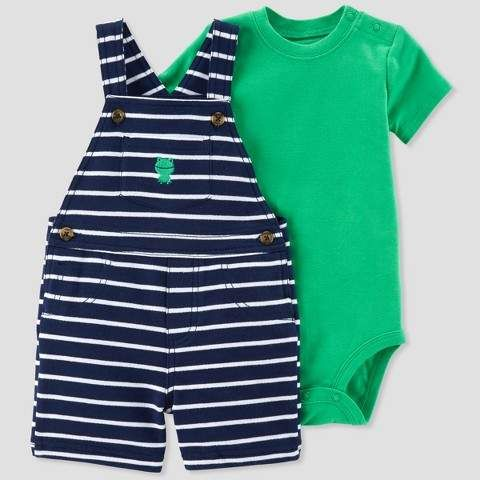 Just One You made by carter Baby Boys' 2pc Stripe Frog