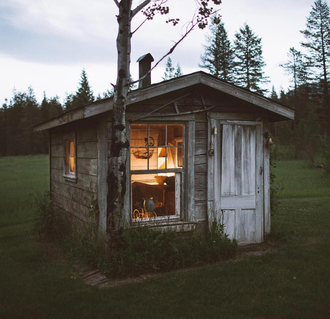 dreamy little cabin in a clearing in the forest cozyplaces rh pinterest com