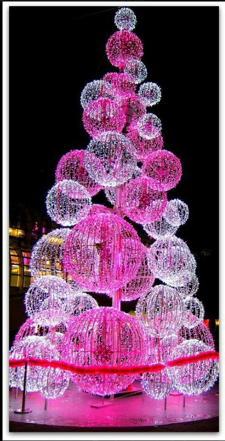 Pin By Jen Hartnett On Christmas Trees Outside Pink Christmas Tree Decorations Outdoor Christmas Tree Decorations Outdoor Christmas Tree