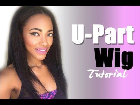 Diy U Part Wig Tutorial Jasmine Defined Youtube U Part Wig Hair Tutorial Wigs