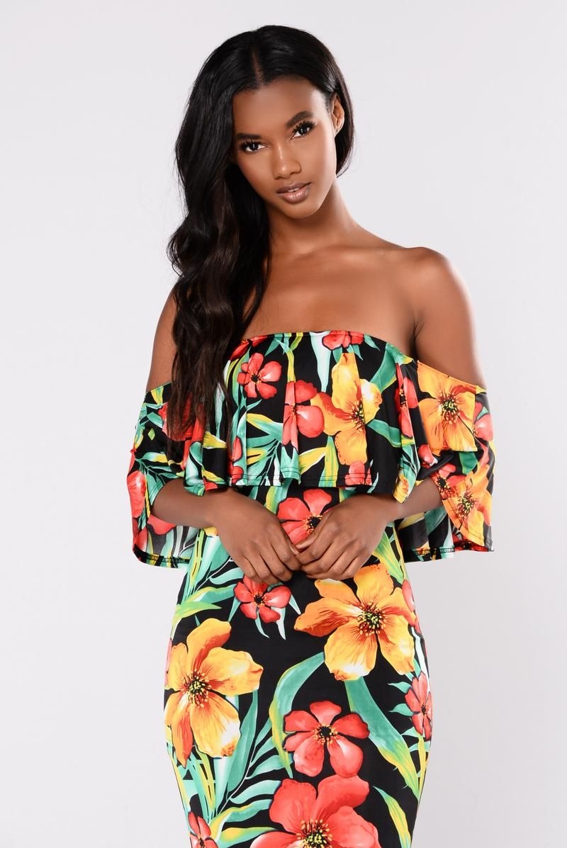 07ed5f284f7 Paradise Peak Floral Dress - Black Multi